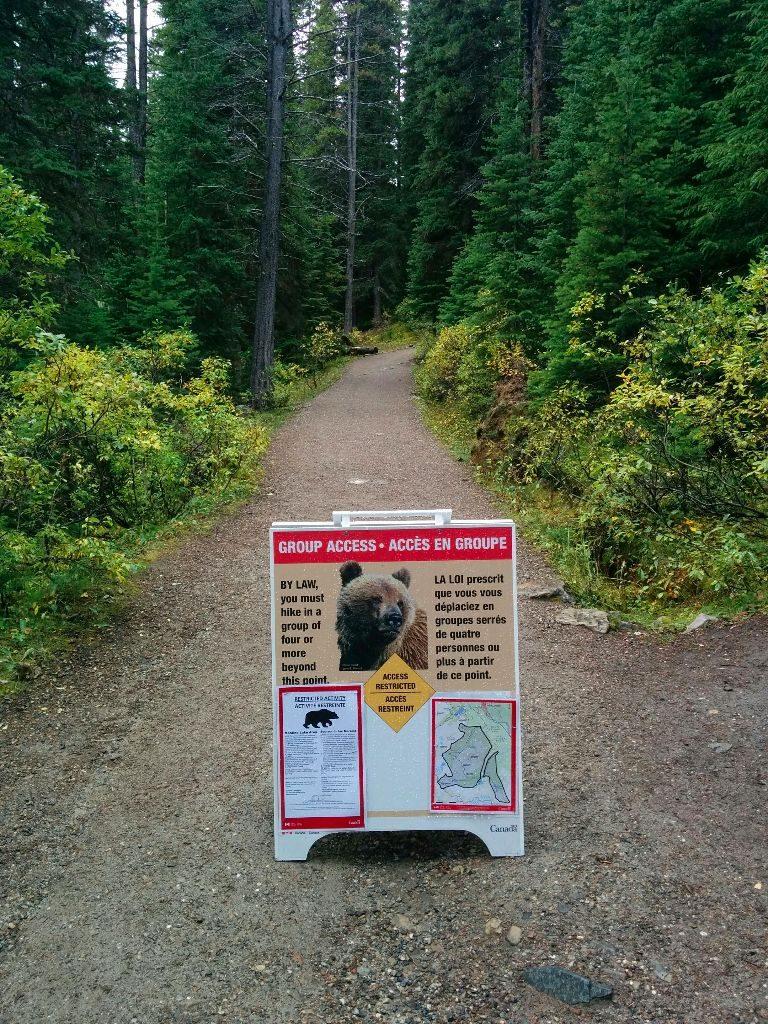 Bärenwarnung Lake Moraine