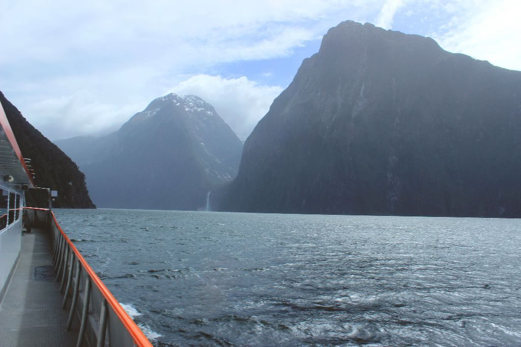 Wasserfall Milford Sound Neuseeland