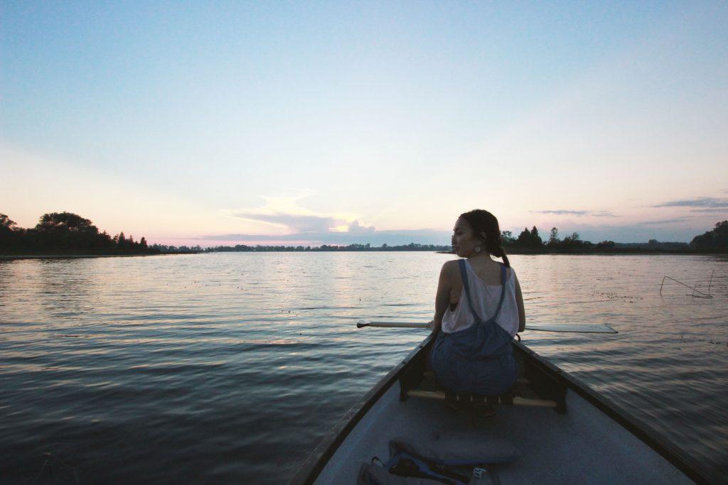 Kanada, Prince Edwar County, Canoeing, Sun Set