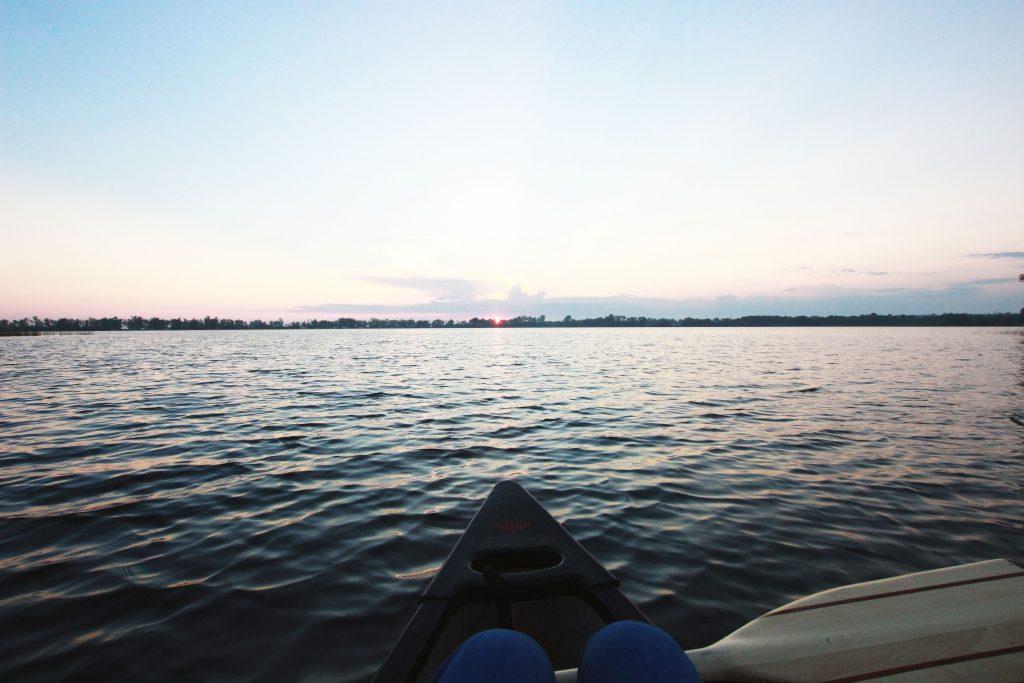 Kanada, Prince Edwar County, Canoeing, Sun Set 2