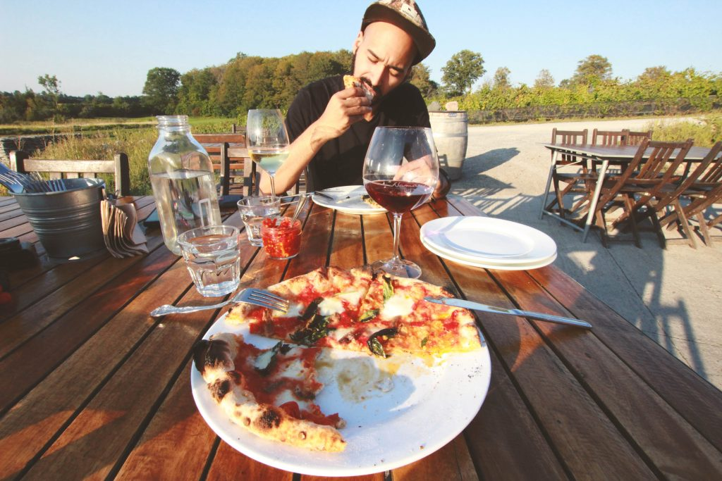 Kanada, Prince Edwar County, Norman Hardie Winery, Pizza