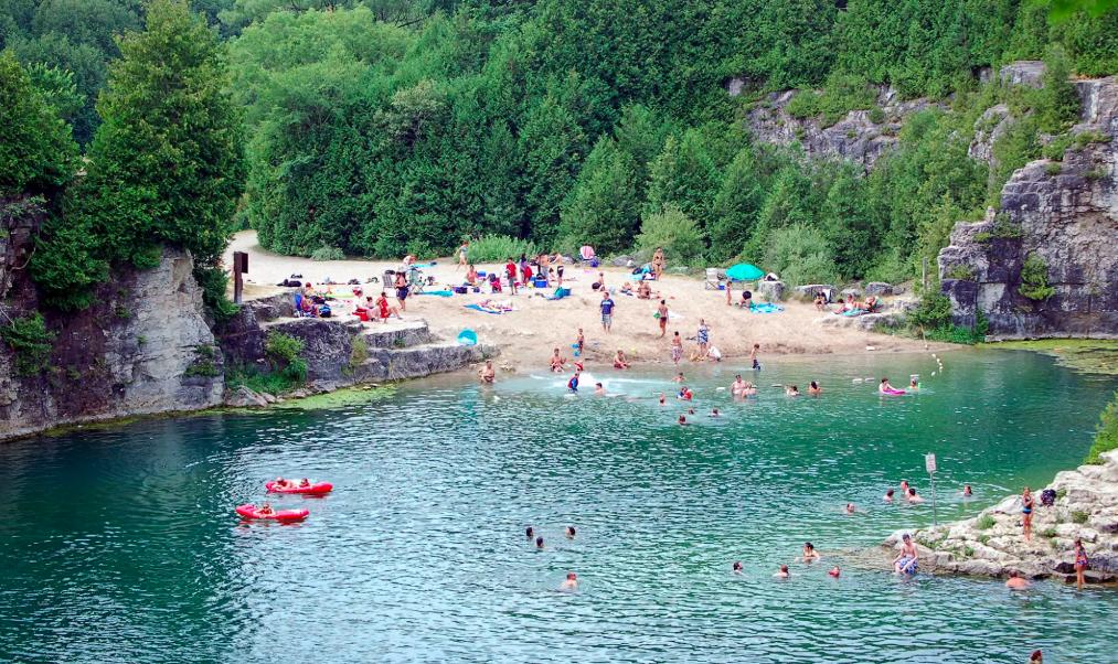 Grand-River-and-Elora-Quarry-Beach-Ontario-Canada