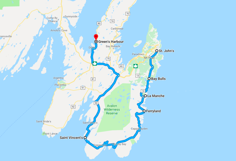Route, Irish Loop, Newfoundland