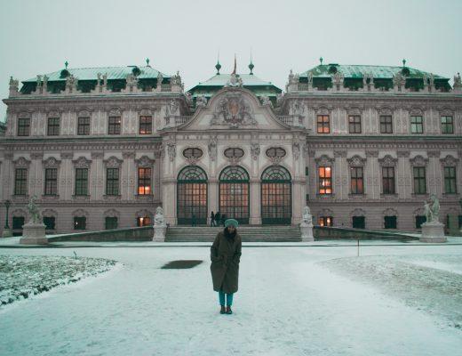 Wien im Winter, Belveder Schloss