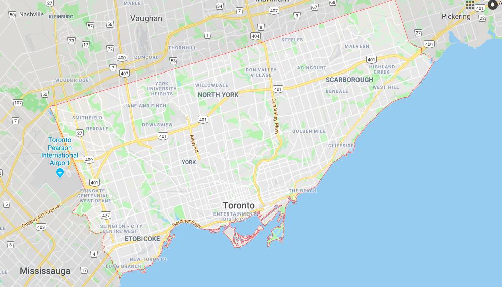 Toronto Stadtkarte