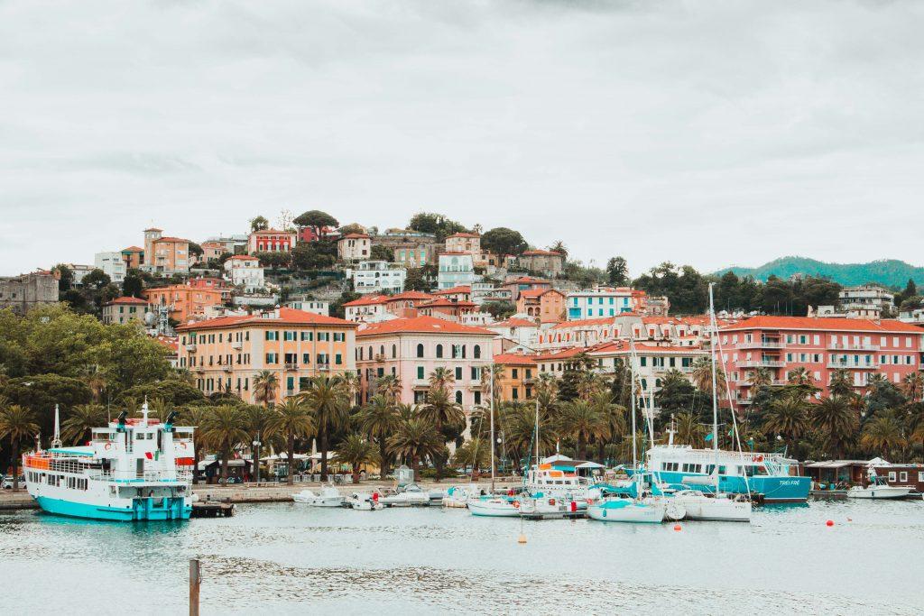 La Spezia, Italien, Hafenblick