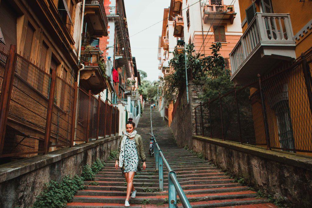 La Spezia, Italien, Innenstadt, Frau