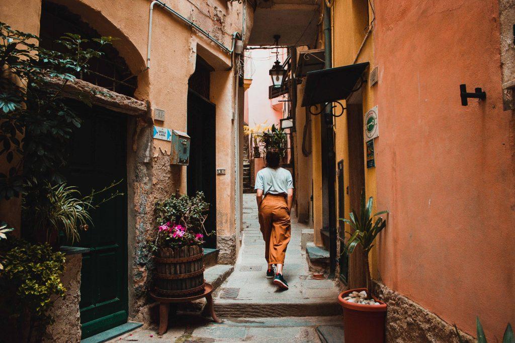 Vernazza, Italien, Cinque Terre, Gassen
