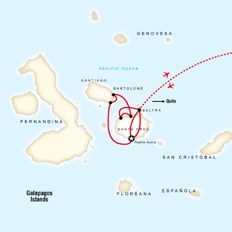 Route, Galápagos Inseln, Ecuador