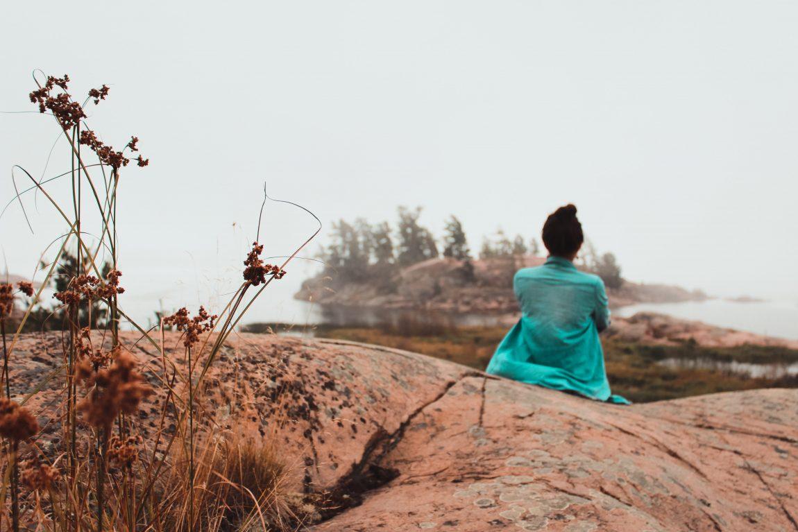 Killarney Provincial Park, Canada, Woman