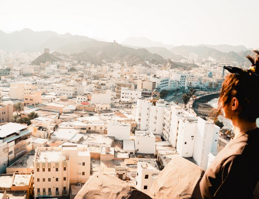 Frau, Alter Wachturm, Muskat, Oman