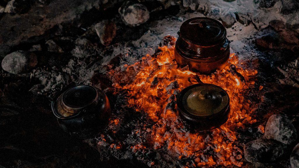 Oman Wüsten Camp, Beduinenzelt, Offenes Feuer